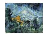 Mont Sainte-Victoire and Château Noir Giclée par Paul Cézanne