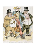 Illustration of Trusts and Monopolies Pickpocketing Uncle Sam