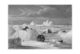 Illustration of Inuits Building an Igloo