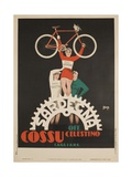 Bicycles Cossu Sardegna  Italian Advertising Poster
