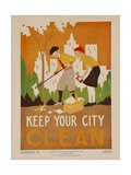 Character Culture Citizenship Guides Original Poster  Keep Your City Clean