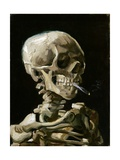 Head of a Skeleton with a Burning Cigarette Reproduction d'art par Vincent Van Gogh
