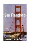 San Francisco United Airlines Poster