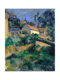 La Route Tournante À Montgeroult (Turning Road at Montgeroult) Giclée par Paul Cézanne