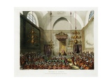 The House of Lords Color Print after Pugin and Rowlandson