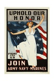 Uphold Our Honor  Join Army-Navy-Marines Poster