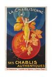 La Chablisienne, Ses Chablis Authentiques, French Wine Poster Giclée
