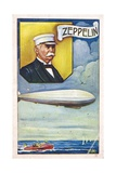Ferdinand Von Zeppelin with Airship