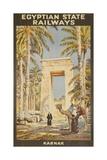 Egyptian State Railways Travel Poster Karnak Giclée