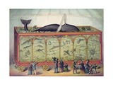 Lithograph of 19th Century Traveling Aquarium