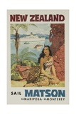 Matson Lines Travel Poster  New Zealand