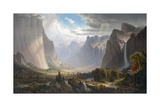 Yosemite Valley with Bridal Falls and Half-Dome in the Distance Giclée