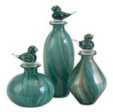 Sea Green Swirl Bottle Set