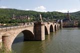 Old Bridge over the River Neckar  Old Town and Castle  Heidelberg  Baden-Wurttemberg  Germany