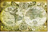 World Map Historical Tableau sur toile