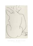 Nu Accroupi de Dos Reproduction d'art par Henri Matisse