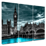 London Nights 3 Piece Gallery Wrapped Canvas Set