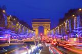Arc De Triomphe and Xmas Decorations  Avenue Des Champs-Elysees  Paris  France