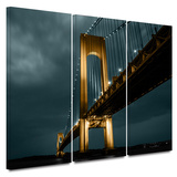 Night Bridge 3 Piece Gallery Wrapped Canvas Set