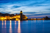 Collioure's Bay and a Lighthouse Converted to Notre-Dame-Des-Anges Church  Collioure  France