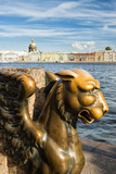 A Griffin on the University Embankment  Saint Petersburg  Russia