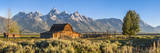 John Moulton Historic Barn  Mormon Row  Grand Teton National Park  Wyoming  Usa