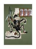 Sacred Ape Giclée par Jean-Michel Basquiat