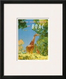 British Overseas Airways Corporation - Fly to East Africa by BOAC - Giraffes