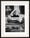 Marilyn Monroe Reading Motion Picture Daily  New York  c1955