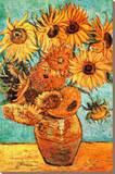 Vincent Van Gogh Vase with Twelve Sunflowers Art Print Poster Tableau sur toile