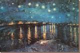 Nuit étoilée sur le Rhône,1888 Tableau sur toile par Vincent Van Gogh