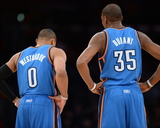 Mar 9  2014  Oklahoma City Thunder vs Los Angeles Lakers - Russell Westbrook  Kevin Durant