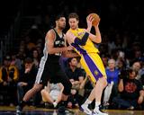 Mar 19  2014  San Antonio Spurs vs Los Angeles Lakers - Pau Gasol  Tim Duncan