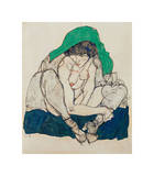 Crouching Woman with Green Headscarf