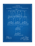 Brewing Beer Patent Reproduction d'art