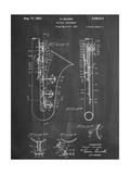 Saxophone Patent Reproduction d'art
