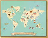 Global Compassion Map poster