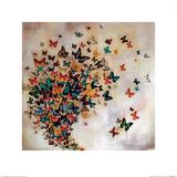 Butterflies on Pale Ochre