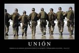 Unión Cita Inspiradora Y Póster Motivacional