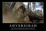 Adversidad Cita Inspiradora Y Póster Motivacional