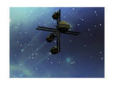 A Starship from Earth with Ion Drive Propulsion Explores the Cosmos