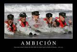 Ambición Cita Inspiradora Y Póster Motivacional