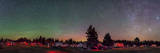 A 360 Degree Panorama with Aurora and Bands of Airglow at a Summer Star Party