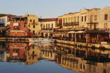 Venetian Port of Rethymnon  Crete  Greek Islands  Greece  Europe