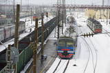 Railway Station on the Trans-Siberian Line  Balezino  Udmurtia  Russia  Europe