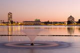 Fountain in Lake Merritt  Oakland  California  United States of America  North America