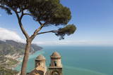 The Twin Domes of San Pantaleone Church from Villa Rofolo in Ravello