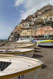 Traditional Fishing Boats and the Colourful Town of Positano