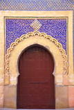 Gate to Royal Palace  Meknes  Morocco  North Africa  Africa