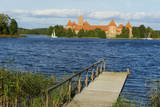 Island Castle of Trakai Near Vilnius  Lithuania  Europe